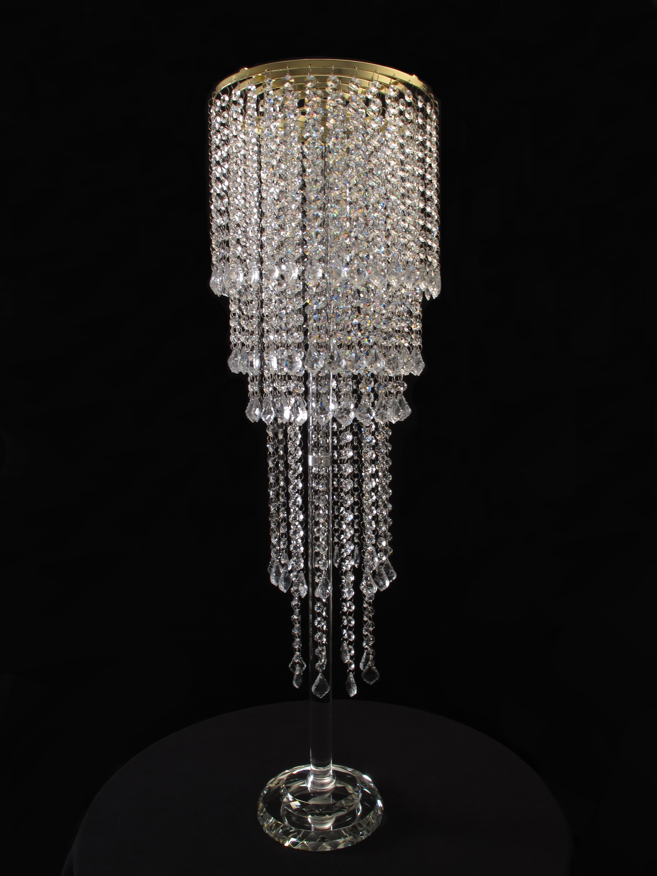 Crystal flower stands candelabra drama crystal flower stand arubaitofo Images