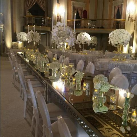 """Florence"" Crystal Candelabra Centerpiece for Wedding and Event Rental"