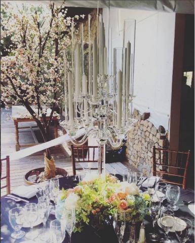 """Talya"" Crystal Candelabra Centerpiece for Wedding and Event Rental"