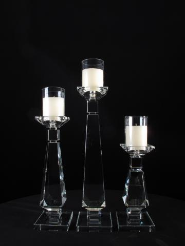 CRYSTAL CANDLE HOLDER CENTERPICE FOR WEDDING AND EVENT