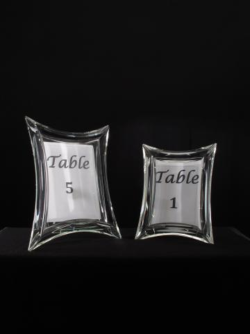 Crystal Photo Frames Table Number Frame Centerpieces for Weddings and Events for Rental
