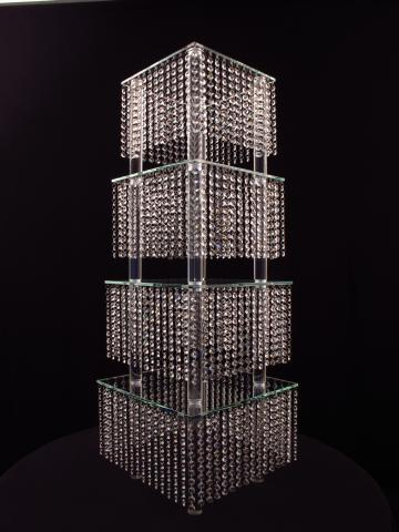 Crystal Cake Stand Centerpiece for Wedding and Event Rental