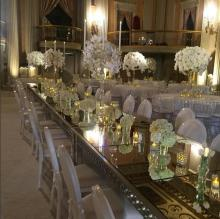 """Florence"" Crystal Candelabra Centerpiece for Wedding and Event Rental"