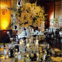 """Alyssa"" Crystal Candelabras Centerpiece Wedding Event Rental"