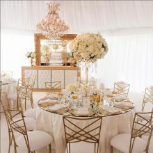 Elizabeth Crystal Candelabra Centerpiece for wedding and event Rental