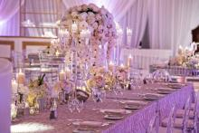 """Mirage"" Crystal Candelabras with cups and mini pillars"