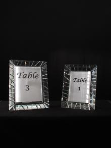 Crystal Picture Frame Table Number Frame Centerpieces for Weddings and Events for Rental