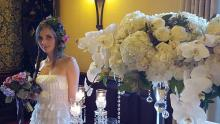 Cindy Crystal Flower Stand for Wedding and Event Rental