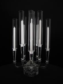 Rana Crystal Candelabra for Wedding and Event Rental