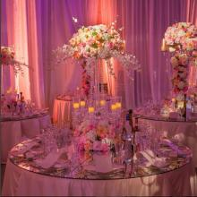Alyssa Crystal Candelabra Centerpiece for Wedding and Event Rental