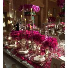 """""""Ella"""" Crystal Candle Holders for Wedding and Event Rental"""