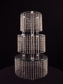 Crystal Cake Stand Centerpiece and Single Crystal Cake Stands for Wedding and Event rental