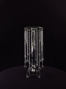 Crystal Flower Stand for wedding or event rental.