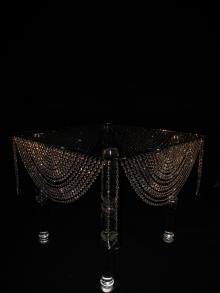 Crystal Table for event, wedding, Escort Card Table, Hors D'oeuvre Table, Dessert Table, Wedding Cake Table, rental