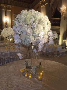 Florence Crystal Flower Stand Centerpiece for wedding and Event Rental