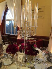 """""""Ilan"""" Crystal Candelabra Centerpiece for Wedding and Event Rental"""