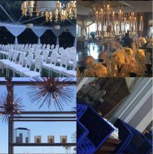 """Mirage"" Crystal Candelabra Centerpiece for Wedding and Event Rental"