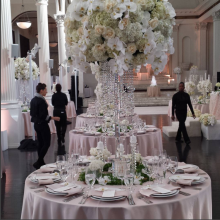 """Arcadi"" and"" Romi"" Crystal Candelabras and ""Chloe"" Crystal Flower Stands"