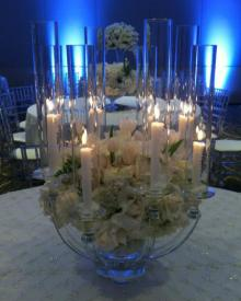 """Zara 8"" Crystal Candelabra Centerpiece for Wedding and Event rental"